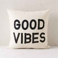 Magical Thinking Good Vibes Pillow- Black One