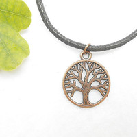Copper Tree Of Life Necklace - Yggdrasil Necklaces - Copper Tree Necklace - Viking Mens Jewelry - Fathers Day Gift - Mens Jewellery