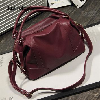 Bolsa feminina Women Soft Leather Handbags New 2017 Girl Hobos Bags Big Women Bag Zipper Fashion Ladies Shoulder Bag