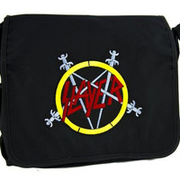Slayer Reign in Blood School Messenger Crossbody Bag Death Heavy Metal