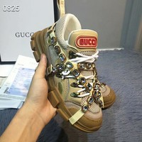 GUCCI High Quality Fashionable Women Men Flashtrek Crystals Diamond Shoes Sneaker