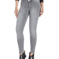 JESSICA SIMPSON Grey Kiss Me Super Skinny Jeans
