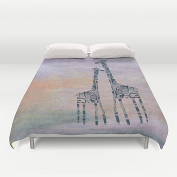 giraffes Duvet Cover by Marianna Tankelevich | Society6