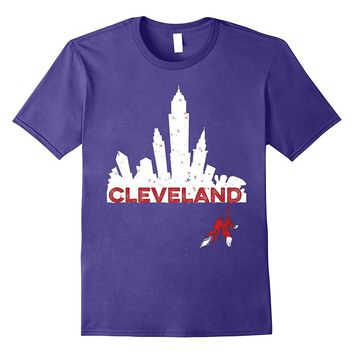 Cleveland Shirt Cleveland Skyline Native American Feather