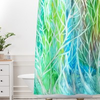 Rosie Brown Coral View Shower Curtain And Mat