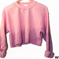 The Chloe Cropped Sweatshirt (Oversized Pastel Ombre Dip Dye Sweater)