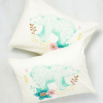 Cub Back to Bed Pillowcase Set | Mod Retro Vintage Decor Accessories | ModCloth.com