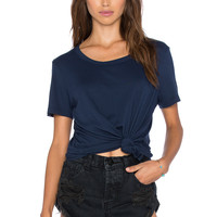 Splendid Very Light Jersey Tee in Navy