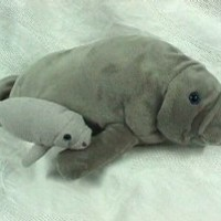 "Wishpets Manatee 17"" L with Baby 8"" L Plush Toy Stuffed Animal"