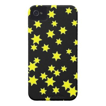 Yellow Stars iPhone 4 Case-Mate Case