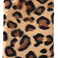 UnnFiko Fluffy Leopard Print Case Compatible with iPhone 7 Plus/iPhone 8 Plus, Fashion Luxury Soft Fur Fuzzy Warm Plush Winter Case Protective Covers (Plush Leopard, iPhone 7 Plus / 8 Plus)