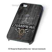 Custom Boston Bruins Hockey iPhone 4 4S 5 5S 5C 6 6 Plus Case , iPod 4 5 Case , Samsung Galaxy S3 S4 S5 Note 3 Note 4 Case , and HTC One X M7 M8 Case