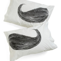 ModCloth Rockabilly Whisker Me to Sleep Pillowcase Set