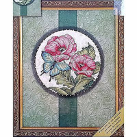 Butterfly Beauty Counted Cross Stitch Kit 8 x 10 Gold Nuggets Dimensions c1446