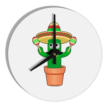 "Fiesta Cactus 8"" Round Wall Clock  by TooLoud"