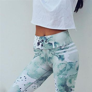 Print Sporting Leggings For Women Fitness Clothing High Waist Workout Pants Elastic Quick Dry Activewear Female Sportif Leggings