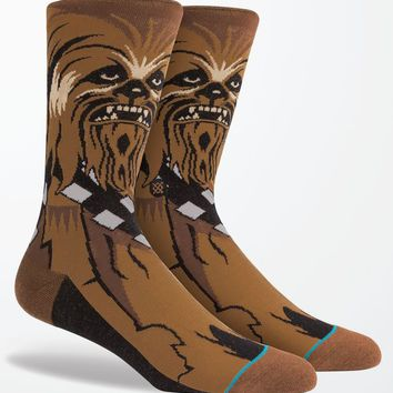 Stance - Disney Star Wars Chewie Crew Socks - Mens Socks - Brown - One
