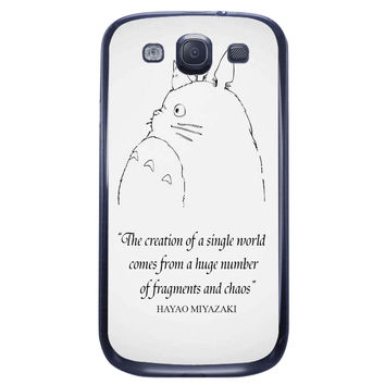 Totoro Quote Samsung Galaxy S3 Case
