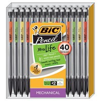 BIC® #2 Xtra Life Mechanical Pencils, 0.7mm, 40ct - Multicolor