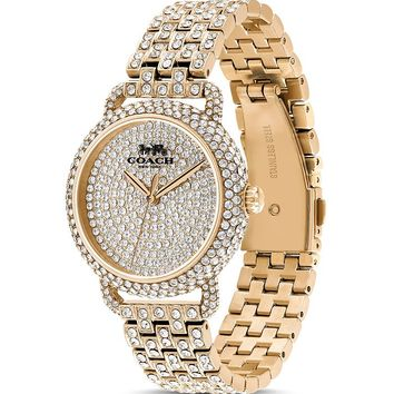 COACH Delancey Pavé-Encrusted Watch, 36mm Jewelry & Accessories - Watches - Bloomingdale's