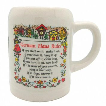 Beer Mug German Coffee Cup: German Haus Rules