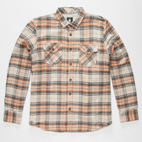 Element Outback Mens Sherpa Flannel Shirt Grey  In Sizes