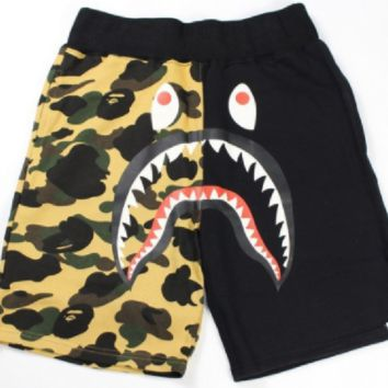 High-quality shark camouflage mosaic shorts youth casual pants pants personalized printing beach pants