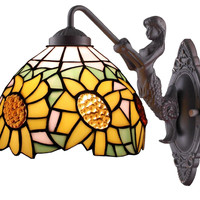 Tiffany Style Sunflower Wall Lamp