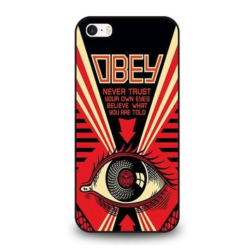 OBEY NEVER TRUST iPhone SE Case Cover