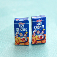 Rice Krispies Cereal Box Earrings