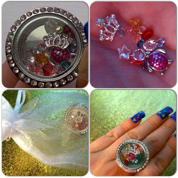 Floating charm locket ring! Pretty pretty princess!