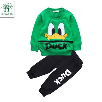 2017 autumn sport suit baby clothes kit for boys tiny cottons winter set 2017 for a boy sports child clothes green orange