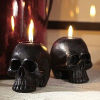 Black Mini Skull Shaped Candle