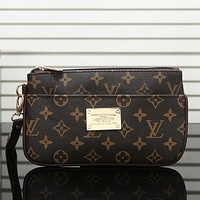 Louis Vuitton LV Fashion Leather Clutch Bag Tote Handbag Satchel