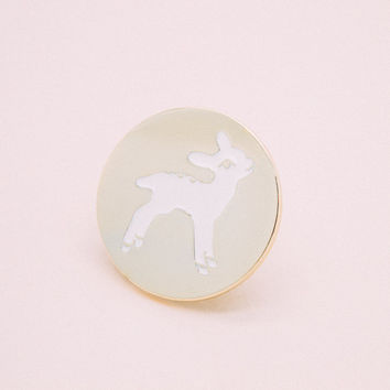 Fawn Lapel Pin - soft enamel, cute, kawaii, fawn, hat pin, enamel pin