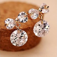 Diamond and Bow Rhinestone Earrings | LilyFair Jewelry