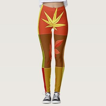 Colours in autumn leggings