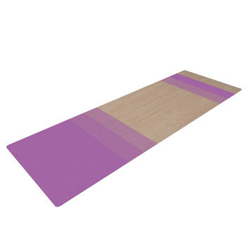 "Brittany Guarino ""Art Purple"" Lavender Wood Yoga Mat"