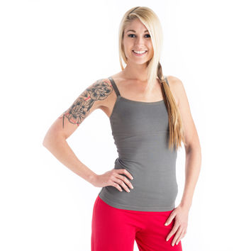 Strength Yoga Tank Camisole - Charcoal
