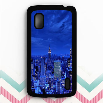 Blue Manhattan Nexus 4 Case