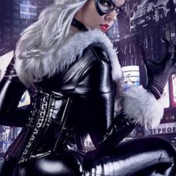 Sexy Black Cat Spiderman Costume Custom