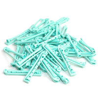 Perm Rods in Aqua Blue (48 Pieces) - Plastic Swing-Arm Hair Curler Accessories, Salon Perming Tools - Vintage Ladies' Style Product