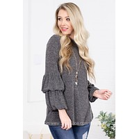 Miley Double Bell Sleeve Top
