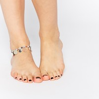 Oasis Seed Bead & Disc Stretch Anklet