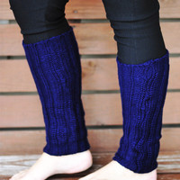 Nice And Cozy Leg Warmers: Navy | Hope's