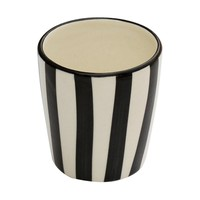 """Bathroom Storage - 3.5"""" Decorative Tumbler Ceramic - Multiuse Toothbrush Toothpaste Stand/Holder - SouvNear Hand-Painted Black WhiteTumbler - Kitchen Sink/Bathroom Accessories - Beautiful Bath Sets on Discount for Bathroom Decor"""
