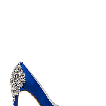 x REVOLVE Dulce Embellished Heel in Blue Satin