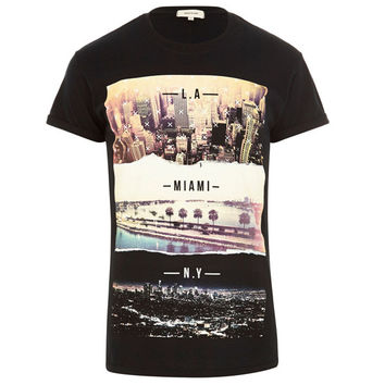 LA | Miami | NY Graphic Print T-Shirt