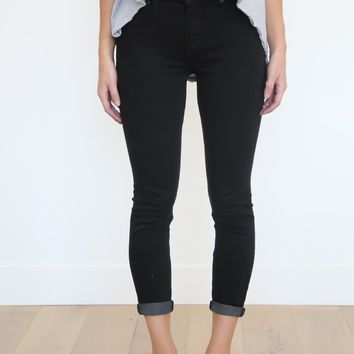 Free People: Black High Roller Crop – Piper & Scoot
