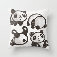 Panda Throw Pillow by Toru Sanogawa | Society6